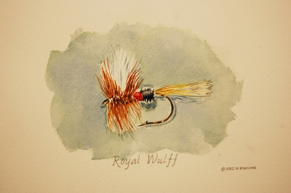 Bill Dinkins - Royal Wulff trout fly