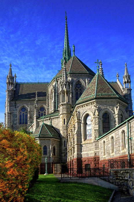 Sacred Heart Cathedral Rear View Photograph  - Sacred Heart Cathedral Rear View Fine Art Print