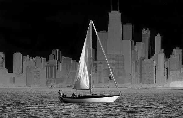 Milena Ilieva - Sailing in lake Michigan