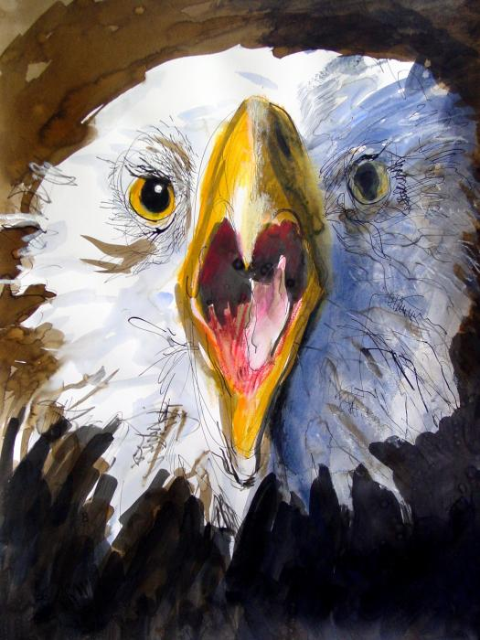 Screaming Eagle 2004 Painting