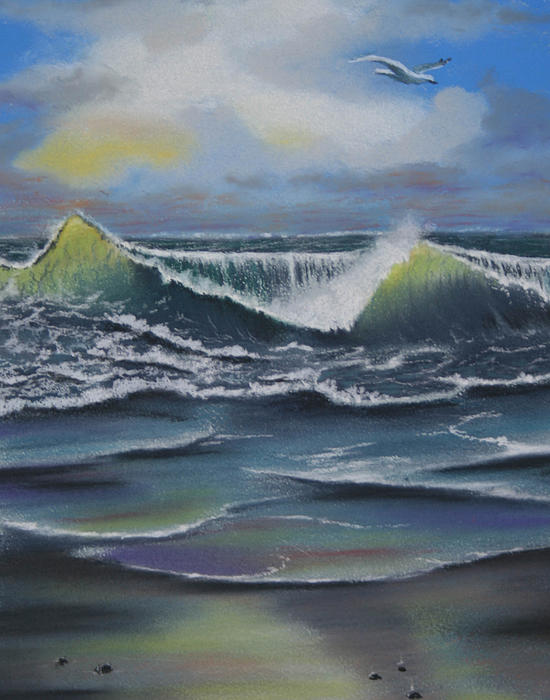 Seascape 3 Painting  - Seascape 3 Fine Art Print
