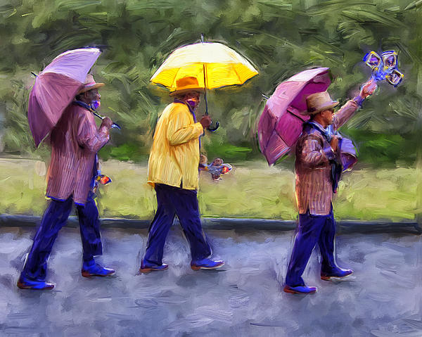 Second Line New Orleans Painting  - Second Line New Orleans Fine Art Print