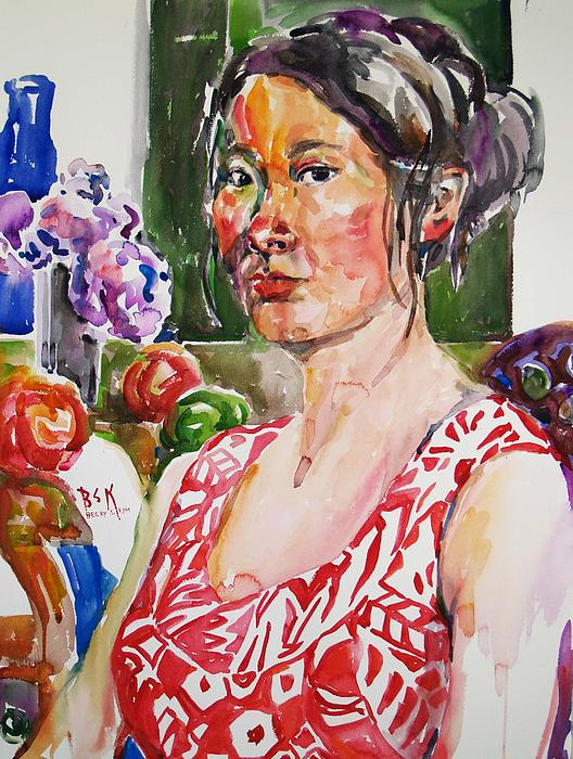 Becky Kim - Self Portrait 9 - with still life