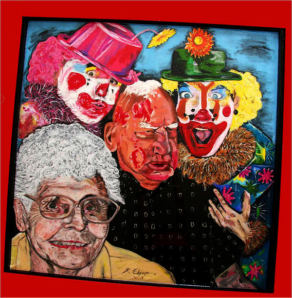 Send In The Clowns Painting  - Send In The Clowns Fine Art Print