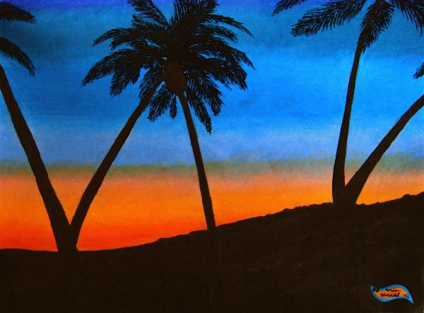 sunrise drawings, sunset drawings, beach drawings, palm tree drawings,