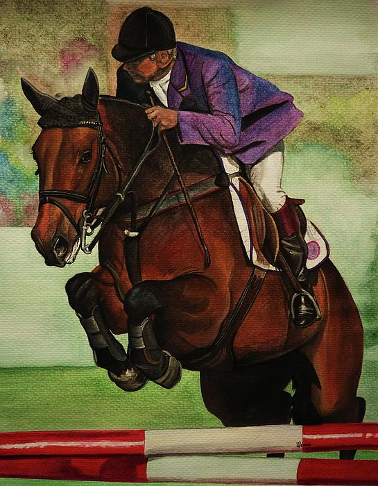 Showjumping Painting  - Showjumping Fine Art Print
