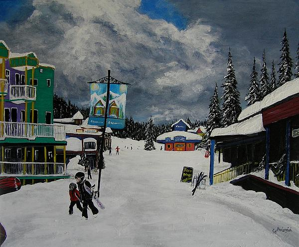 Silver Star Resort Painting  - Silver Star Resort Fine Art Print