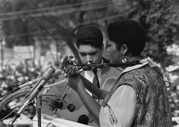 History Photograph - Singer Odetta At The 1963 Civil Rights by Everett