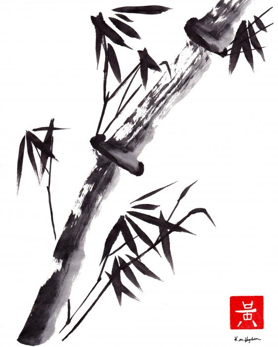 Ken Hughson - Single Sumi e Black Bamboo