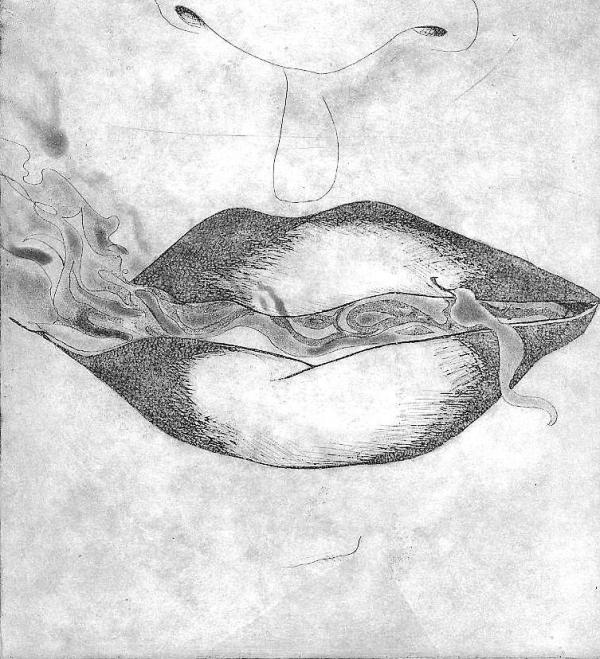 Smoke Drawing by Jo Anna McGinnis. Tags: black and white drawings,