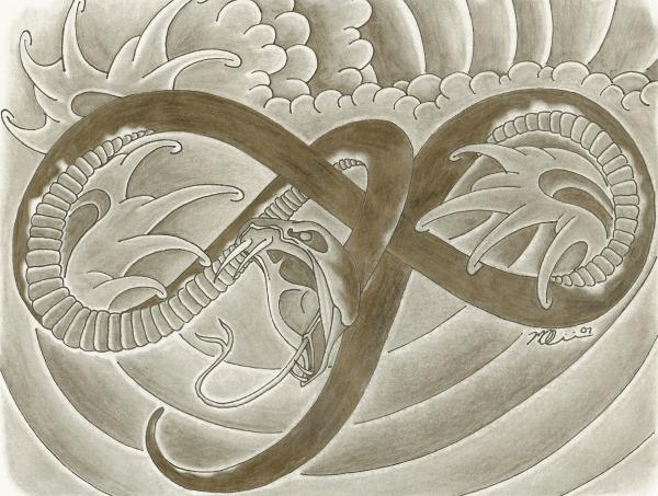 snake drawings, water drawings, japanese drawings, tattoo drawings,