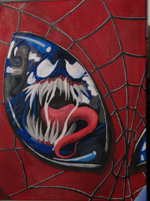 http://fineartamerica.com/images-medium/spider-man-n-venom-eye-reflection-grant-jastal.jpg