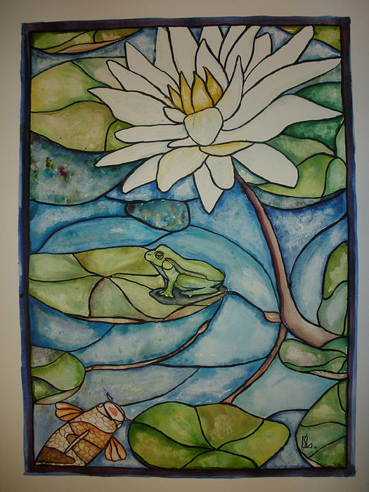 glass frogs. Stained Glass Frog Painting