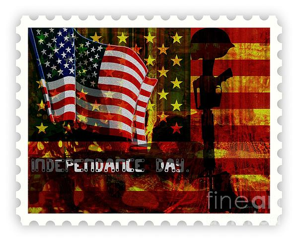 Stamp Your Freedom  Mixed Media  - Stamp Your Freedom  Fine Art Print