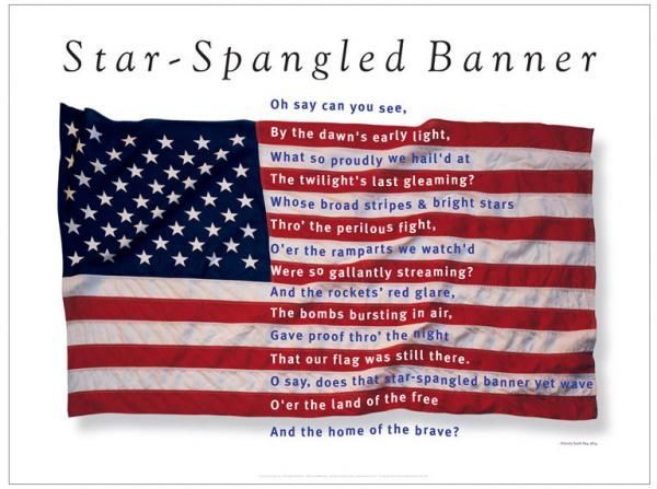 the star spangled banner drawing