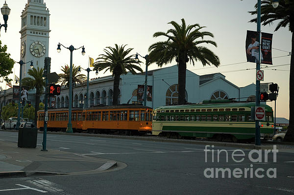 Streetcars At Sunset Photograph  - Streetcars At Sunset Fine Art Print