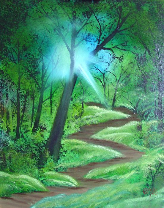 Painting Painting - Sunlight In The Forest by Charles and Melisa Morrison