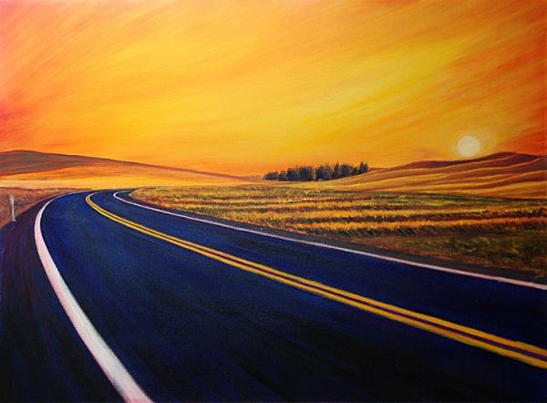 Sunrise  Albion Road Painting  - Sunrise  Albion Road Fine Art Print