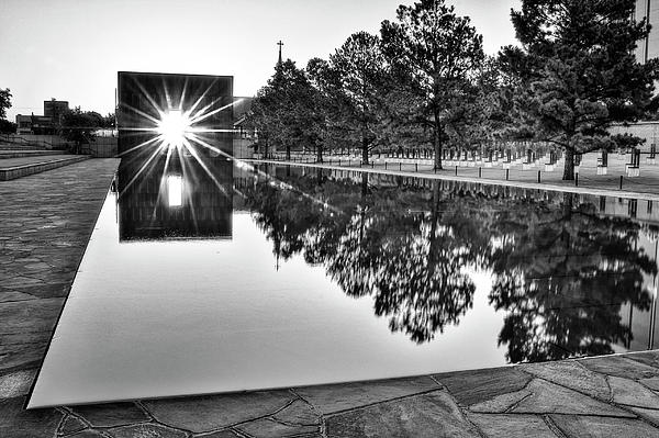 Sunrise At The Alfred P Murrah Memorial Photograph  - Sunrise At The Alfred P Murrah Memorial Fine Art Print