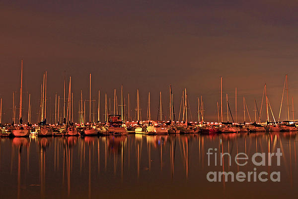 Inspired Nature Photography By Shelley Myke - Sunrise over the Marina by the Lift Bridge