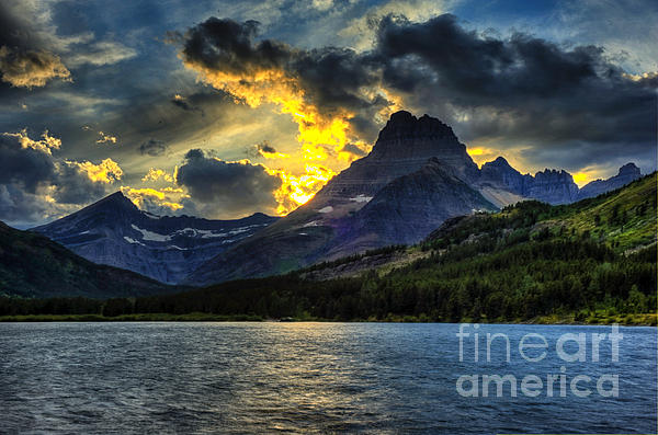 Dennis Hammer - Sunset over Glacier National Park
