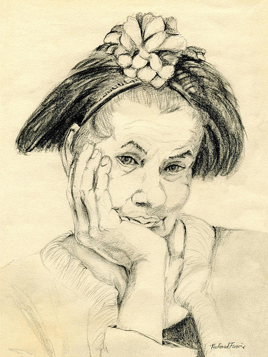 Sweet Lady Drawing by Rich Travis - Sweet Lady Fine Art Prints and ...