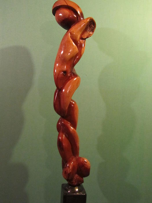 Cherry Wood Sculpture - Tall Figure by Noah Maggio
