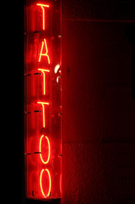 tattoo photographs, sign photographs, neon photographs, moody photographs,