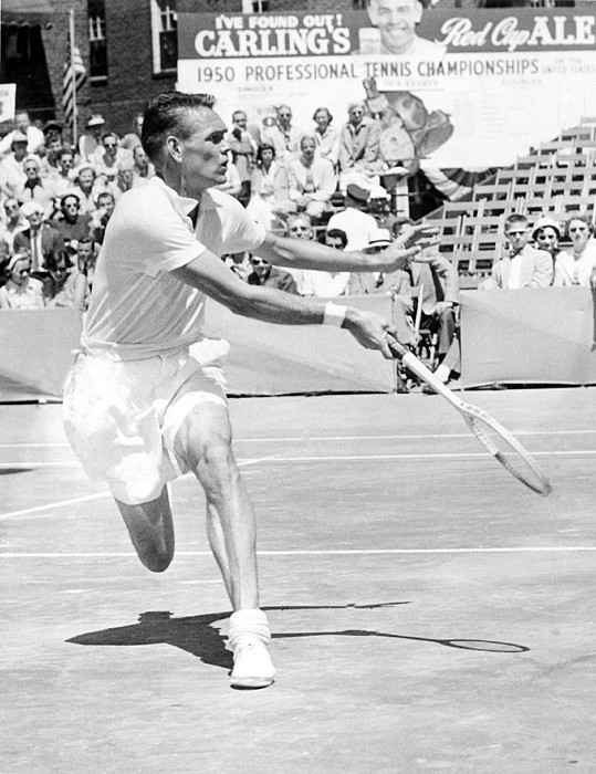 1950s Candids Photograph - Tennis Champion Jack Kramer, Playing by Everett