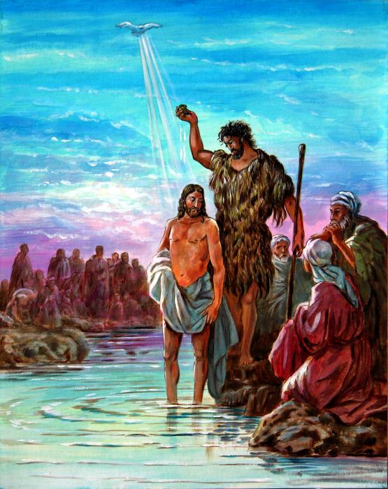 The Baptism of Jesus Painting - The Baptism of Jesus Fine Art Print
