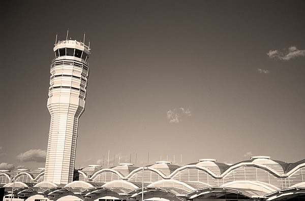 Airport Photograph - The Control Tower And by Stephen Alvarez