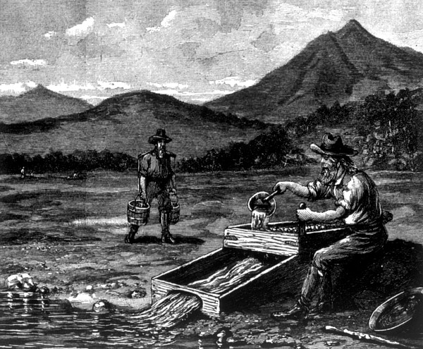 Photograph - The Gold Rush, Prospector Using by Everett