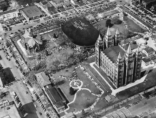 1940s Candid Photograph - The Mormon Tabernacle, In Salt Lake by Everett