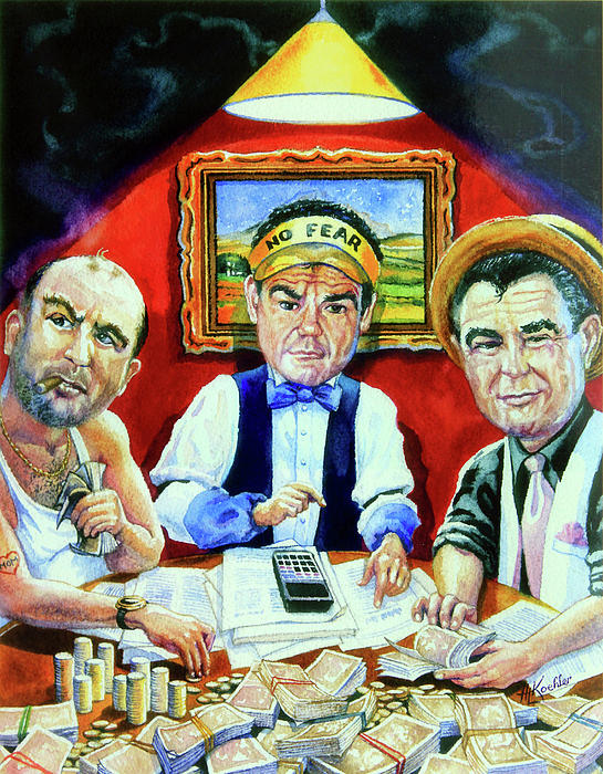 The Poker Game Painting  - The Poker Game Fine Art Print