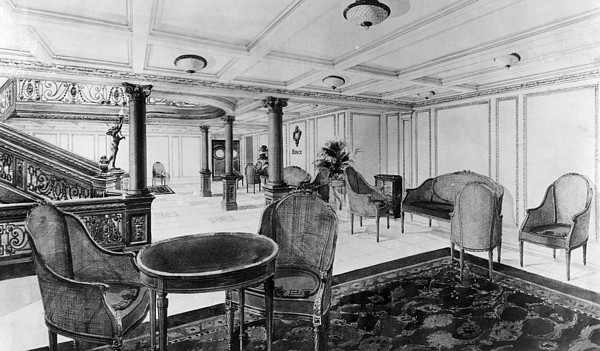 1910s Photograph - The Restaurant Reception Room by Everett
