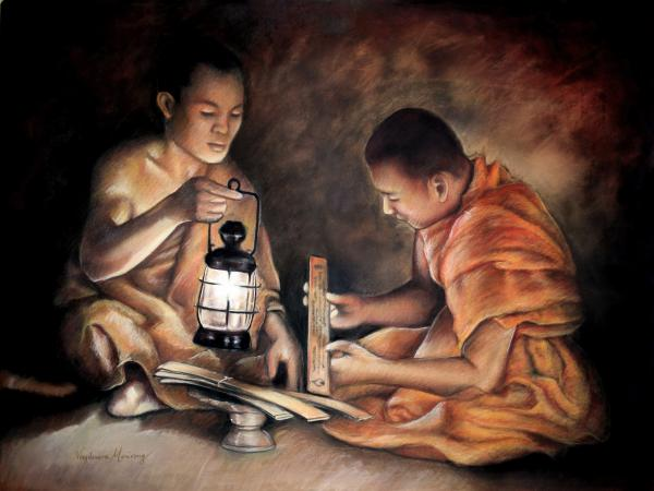 The Sacred Scriptures Pastel by Vongduane Manivong - The Sacred ...