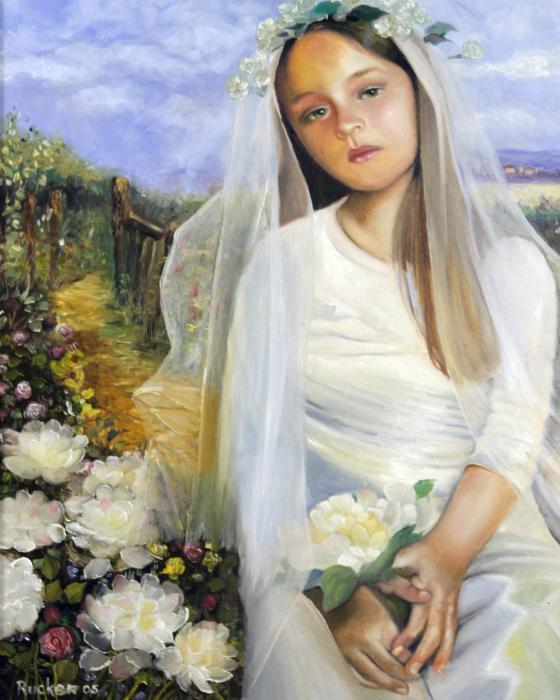 the sad flower girl mary rucker - Some beautiful handpaintings...!!