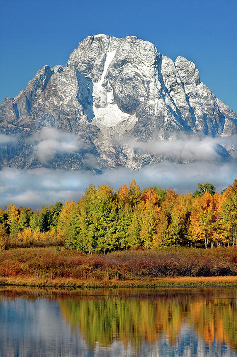 The Tetons In Autumn Photograph  - The Tetons In Autumn Fine Art Print