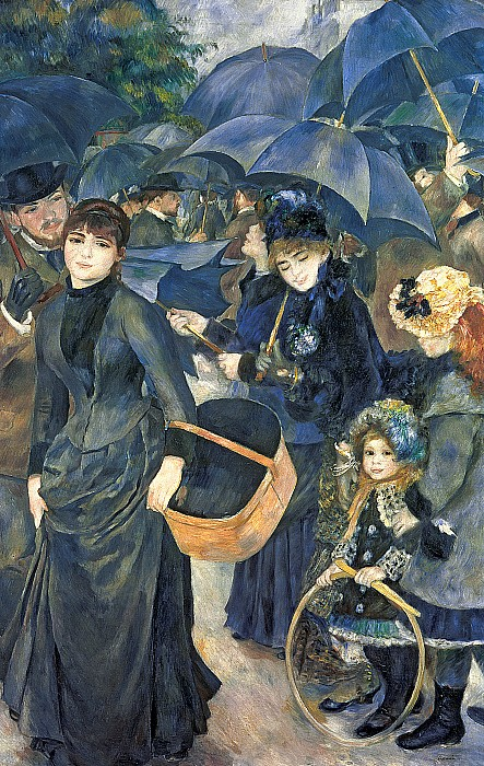 The Umbrellas Painting by Pierre Auguste Renoir