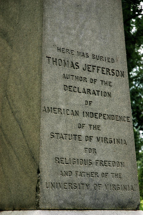 jefferson tombstone