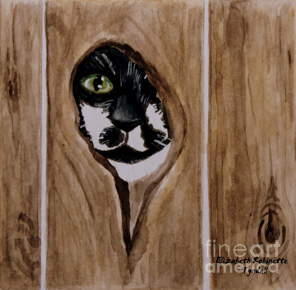 Through the Knothole Painting by Elizabeth Robinette Tyndall ...