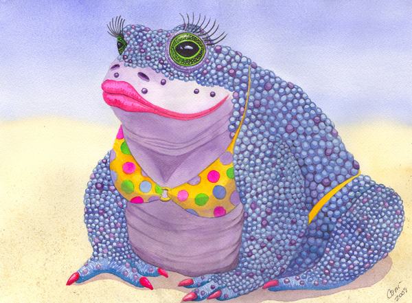 Toadaly Beautiful Painting - Toadaly Beautiful Fine Art Print