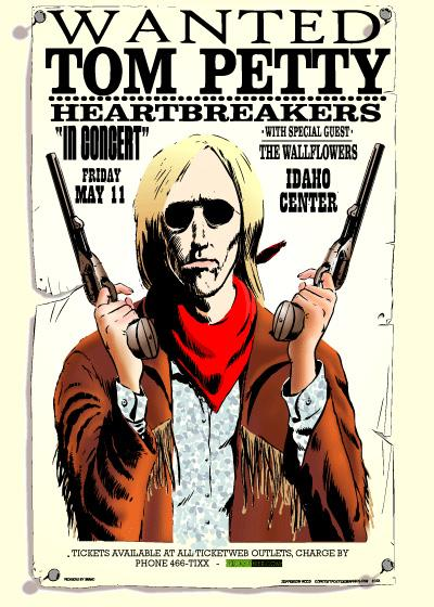 Tom Petty. Tom Petty Tour Poster Painting