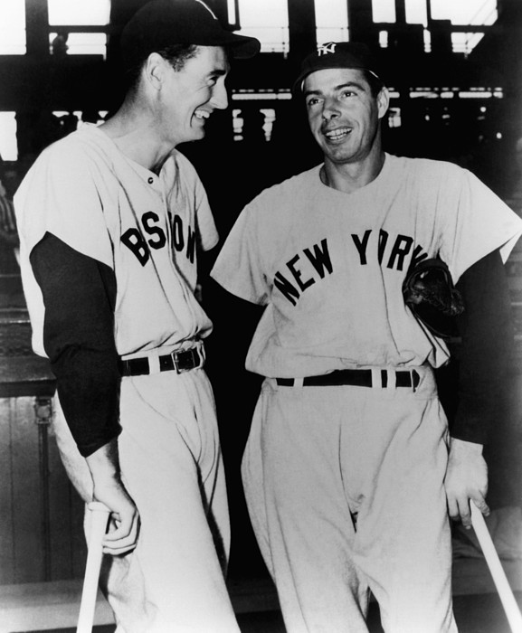 1950s Candids Photograph - Top Sluggers. Ted Williams by Everett
