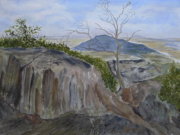 Trails End - Rocks Trees And Sky Painting  - Trails End - Rocks Trees And Sky Fine Art Print
