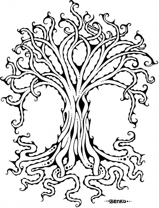 tree roots drawing. Tree of Life Drawing - Tree of
