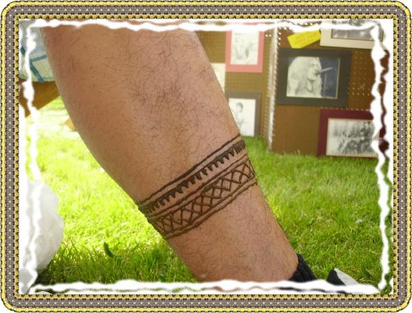Tribal Leg Band Painting by Henna Tattoos Ogden Utah