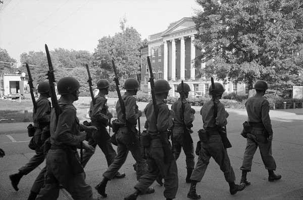 History Photograph - Troops At The University Of Alabama by Everett