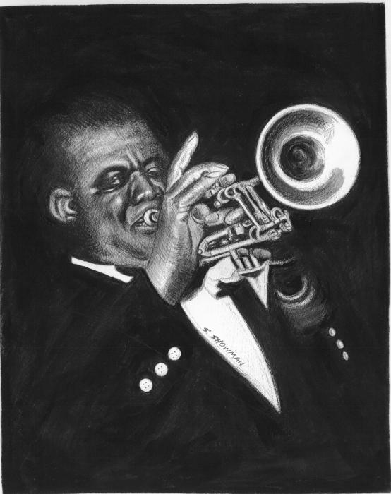 Trumpet Player Painting - Trumpet Player Fine Art Print