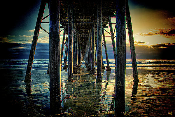 Under The Boardwalk Photograph  - Under The Boardwalk Fine Art Print